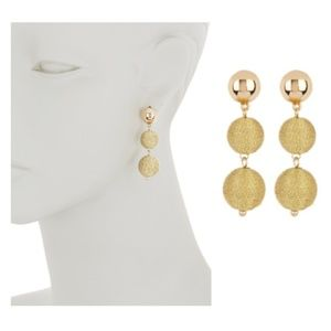 NWT Ettika Gold-Tone Wrapped Earrings